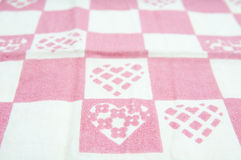 Hearts cloth Royalty Free Stock Photos