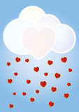 Hearts cloud Royalty Free Stock Images