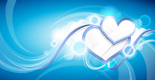 Hearts in clouds Royalty Free Stock Photo