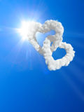 Hearts and clouds Royalty Free Stock Photography