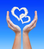 Hearts from clouds Royalty Free Stock Photo