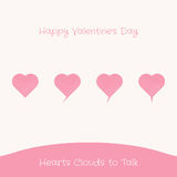 Hearts Clouds to Talk Stock Photos