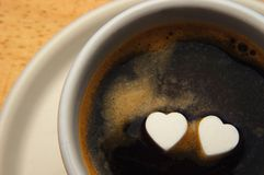 Hearts and coffee Royalty Free Stock Image