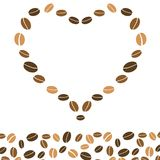 Hearts coffee background with love Stock Image