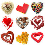 Hearts collage Stock Photos