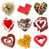 Hearts collage stock photos