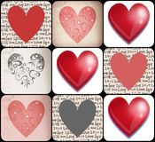 Hearts collage Stock Photo