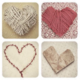 Hearts collage Royalty Free Stock Photo