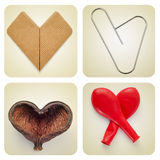 Hearts collage Royalty Free Stock Images