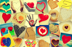 Hearts collage Stock Photography