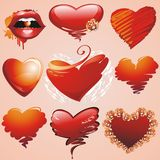 Hearts collection. Stock Image