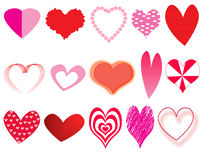 Hearts collection Stock Photography