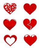 Hearts collection Stock Photos