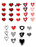 Hearts collection Royalty Free Stock Image