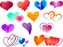 Hearts collection Royalty Free Stock Images