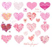 Hearts collection Royalty Free Stock Photography