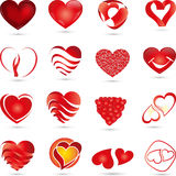 Hearts collection, logo, button. Heart collection, hearts logos and buttons Stock Photography
