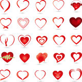 Hearts collection, logo, button. Heart collection, hearts logos and buttons Royalty Free Stock Images