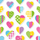 Hearts collection pattern Royalty Free Stock Images