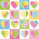 Hearts collection pattern Royalty Free Stock Photography