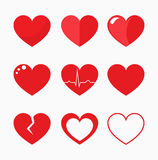 Hearts collection vector Stock Image
