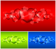 Hearts on color Royalty Free Stock Photos