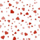 Hearts Colorful abstract seamless pattern. Overlapping colors.Seamless valentine pattern.Vector ilustration. Isolated on white background Royalty Free Stock Images