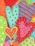 Hearts. Colorful illustration of decorative hearts Royalty Free Stock Photo