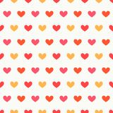 Hearts colors seamless pattern Stock Photography