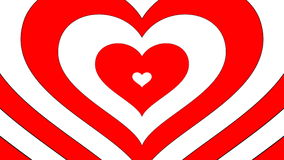 Hearts coming out - red and white variant, loop able stock footage