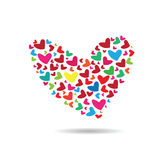 Hearts compose to heart shape Royalty Free Stock Images