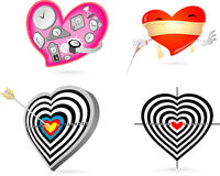 Hearts Concept. Love is Patient, Love is Blind, Love Struck, Heart Target abstract concept Stock Photo