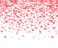 Hearts confetti background Stock Photos