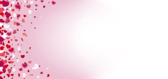 Hearts Confetti Bright Side Header Stock Image