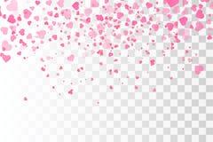 Free Hearts Confetti . Valentines Vector Template. Stock Image - 105157811