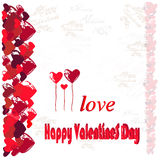 Hearts and congratulations Happy Valentines Day. Royalty Free Stock Image
