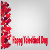Hearts and congratulations Happy Valentines Day. Royalty Free Stock Images