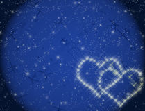 Hearts constellation. Love constellation on Valentine's day Stock Photos