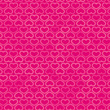 Hearts Contour Pattern in Shades of Pink, vector Royalty Free Stock Images