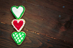 Hearts cookies Stock Photography