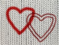 Hearts on cotton twine Royalty Free Stock Photos