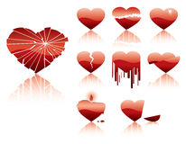 Hearts crash character stock illustration