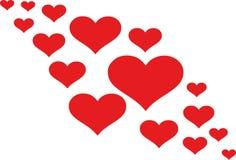 Hearts creative love. Valentine vector Royalty Free Stock Photo