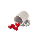 Hearts in cup Royalty Free Stock Images
