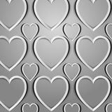 The hearts cut out from paper Royalty Free Stock Photo
