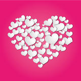 Hearts cut from paper Royalty Free Stock Images