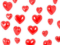 Hearts. 3D image of hearts, isolated on white Royalty Free Stock Photos