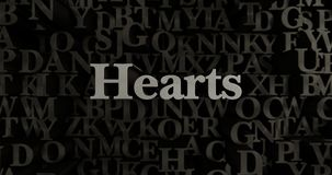 Hearts - 3D rendered metallic typeset headline illustration. Can be used for an online banner ad or a print postcard vector illustration