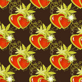 Hearts dark seamless pattern Royalty Free Stock Photo