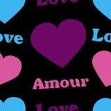 Hearts on the dark Royalty Free Stock Photos